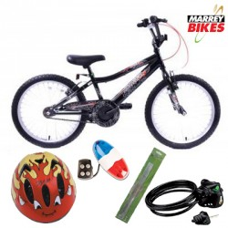 Ammaco Professional Spider Boys 20 Inch Bike Package 2016
