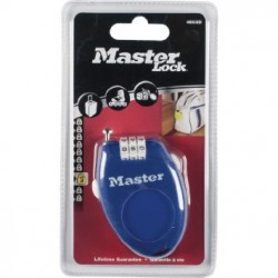 Master Lock 2 mm x 700 mm Retractable 3 Digit Resettable Combination Cable Padlock
