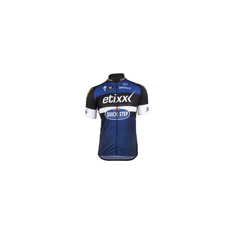 Etixx Quick-Step Short Sleeve Long Zip Jersey - Marrey Bikes 8fdf8c572