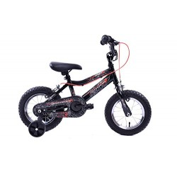 """Spider Boys 12"""" Wheel Spiderman Style Kids BMX Bike"""