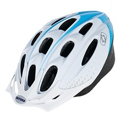 Oxford F15 White & Blue Cycling Helmet