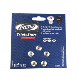 BBB BCR-52 Triplestars Aluminum Chainring Bolts Silver