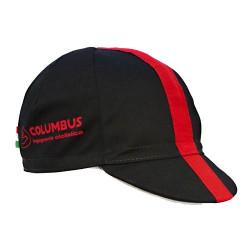 Columbus Black/Red Cycling Cap