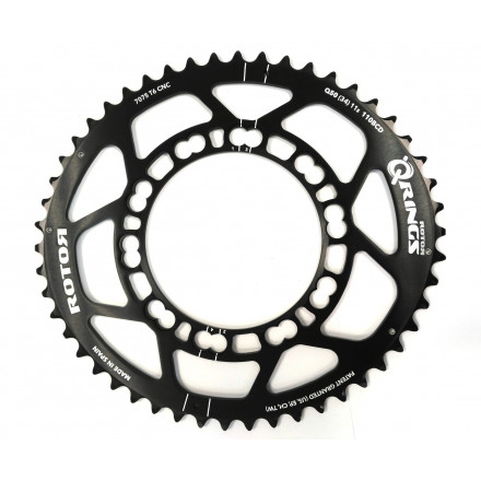 Rotor Q-Rings BCD110x5 50T Outer Oval Chainring Black
