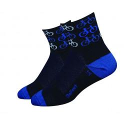 DeFeet Aireator Cool Bikes Sock Black/Blue