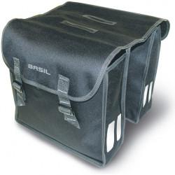 BASIL MARA DOUBLE PANNIER BAG BLACK 26L