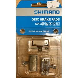 Shimano G04S disc brake pads, steel backed, metal sintered