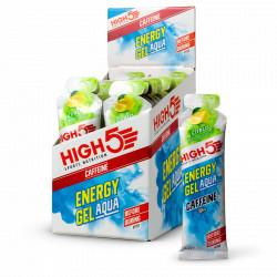 High Five Box Energy Gels Aqua Caffeine