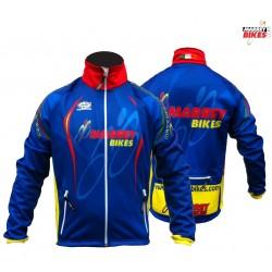 MARREY BIKES Windstopper Winter Jacket (blue & Yellow)