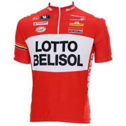 Lotto Belisol Red White Quarter Zip Jersey 2014 a1e639bd4