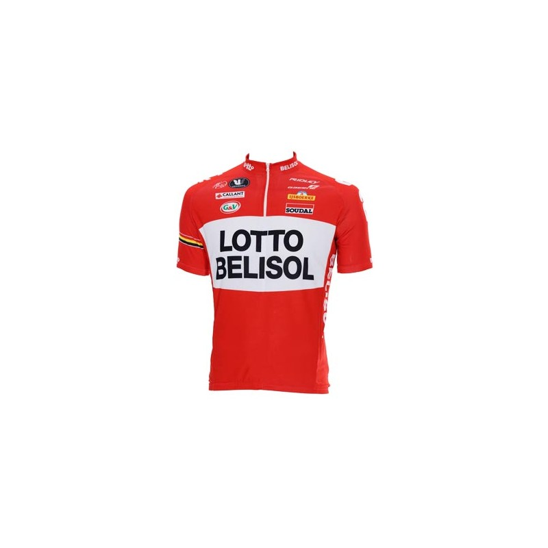 Lotto Belisol Red White Quarter Zip Jersey 2014. Zoom. Move your mouse over  image 71f2ed63c