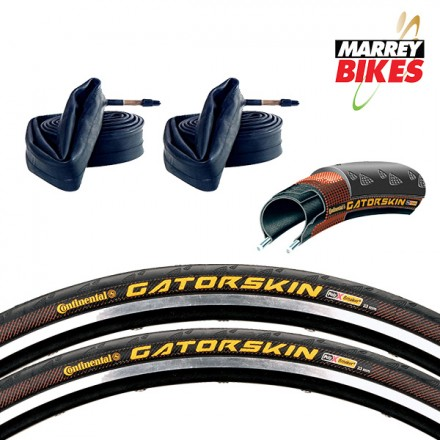 Continental Gator Skin (Road Tyres & Tubes x 2)
