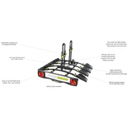 Buzzrack Buzzybee 4 Tow Ball Platform Bike Carrier